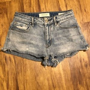 High waisted distressed shorts from Pacsun